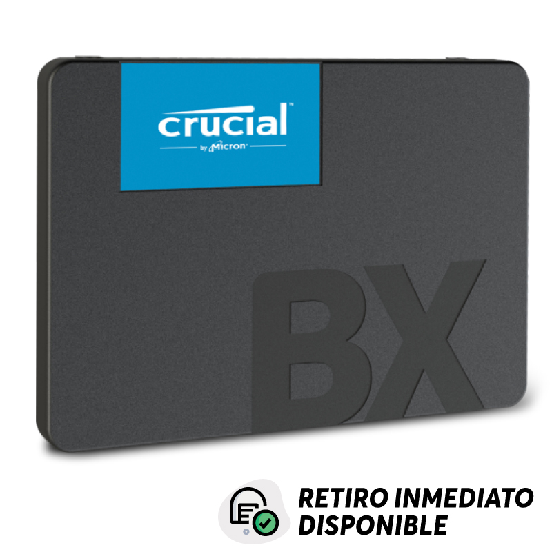 Disco SSD 480GB Crucial BX500 3D Sata 2.5 Lectura 540 MB/s