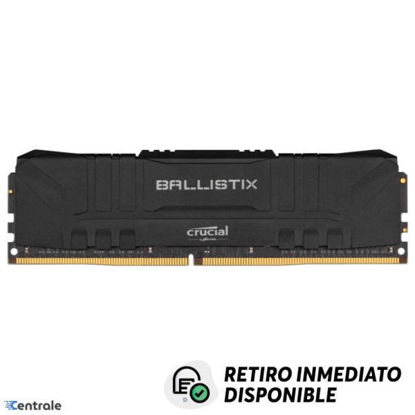 Memoria RAM 8GB 3200MHz DDR4 Crucial Ballistix Black CL16