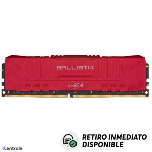 Memoria RAM 8GB 3600MHz DDR4 Crucial Ballistix Red CL16