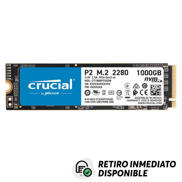 Disco SSD 1TB NVMe™ Crucial P2 PCIe M.2 2280SS