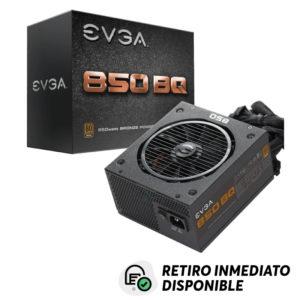 Fuente De Poder 850W Semi Modular EVGA 850BQ Certificación 80+ Bronze