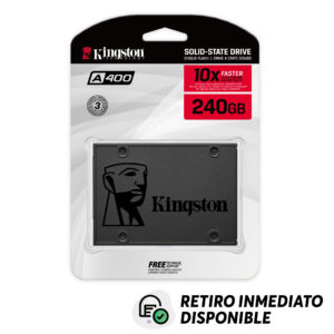 Disco Duro SSD Kingston 240GB A400 Sata3 2.5
