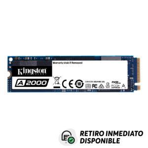 Disco Duro SSD Kingston 250GB A2000 PCIe NVME M.2 2280
