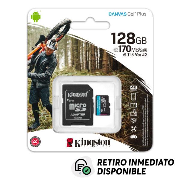 Memoria MicroSDXC Canvas Go Plus Kingston 128GB 170mb/s