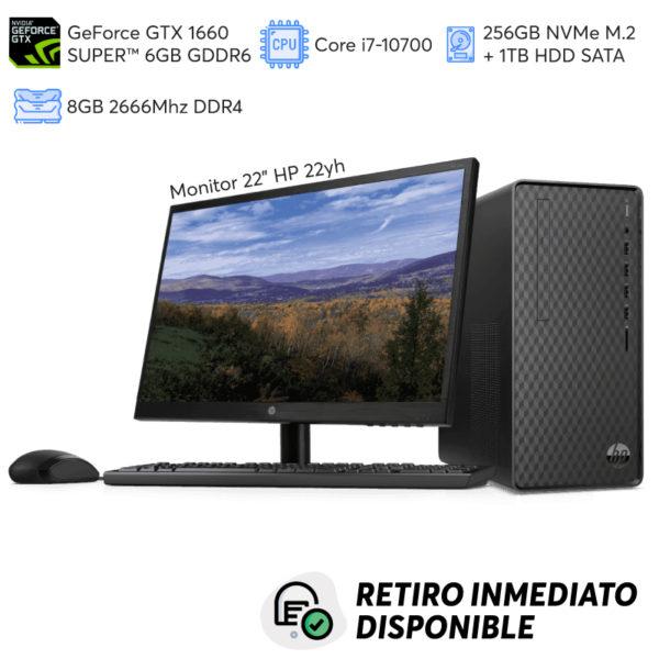 PC Gamer GeForce GTX 1660 SUPER Core i7-10700, 8GB RAM, 256GB SSD NVMe