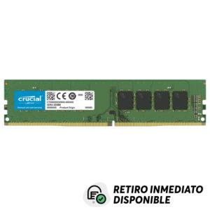 Memoria RAM 8GB 2666MHz DDR4 Crucial Unbuffered 1.2V