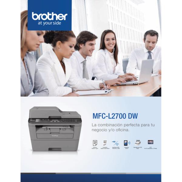 4. Multifuncional láser Brother MFCL2700DW brother