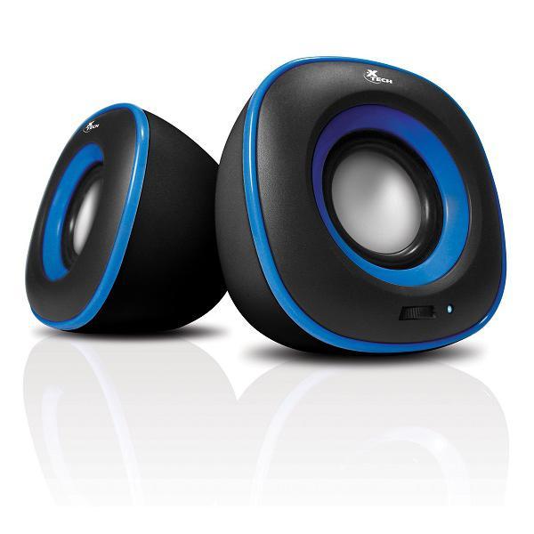 Xtech Bocinas Spekter Color Negro-Azul 6 Watts Corriente Usb XTS-115BL