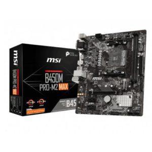 Msi Placa Madre Pro B450M Pro-M2 Max, Socket Am4 Amd Ryzen B450MPRO-M2MAX