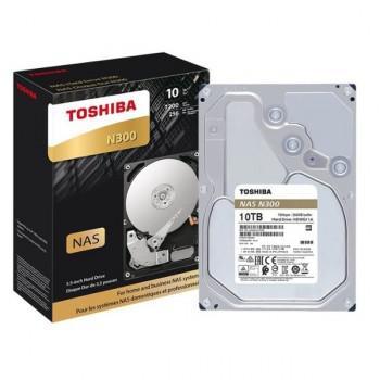 """Toshiba N300 Nas Disco Duro 10 Tb Interno 3.5"""" Sata 6Gb/S HDWG11AXZSTA"""
