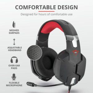 Trust Gxt 322 Dynamic Headset Black 20408