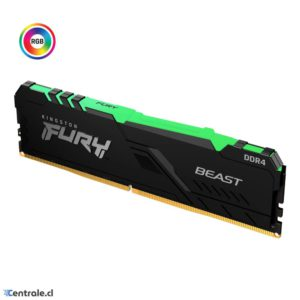 Kingston Mem Fury Beast Rgb 8Gb 3200Mhz Ddr4 Cl16 Escritorio KF432C16BBA/8