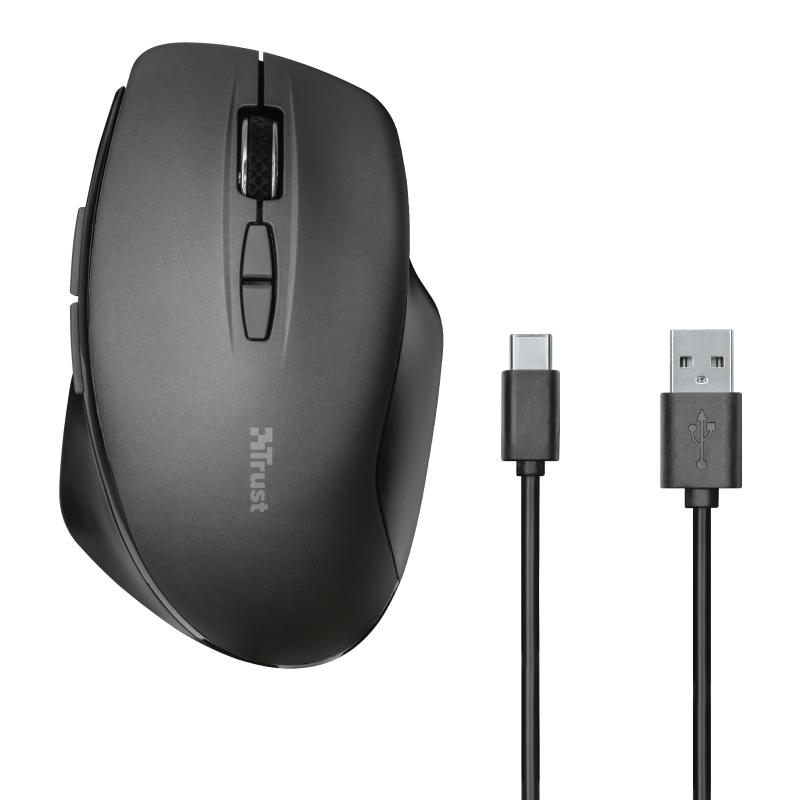 Trust Themo Rchrgable Wrl Mouse 23340