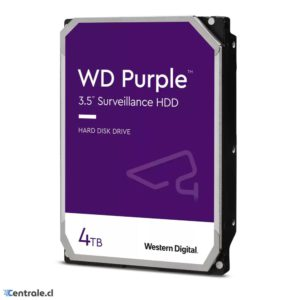 Disco Duro 4TB Western Digital PURPLE Surveillance 5400RPM WD40PURZ