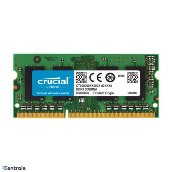 Memoria RAM Notebook 8GB SODIMM Crucial 1600MHz DDR3L CT102464BF160B