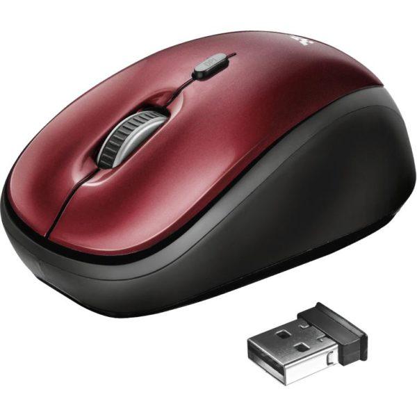Trust Mouse Inalámbrico Desktop Pro Rojo Yvi 19522