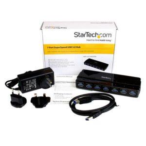 Startech 7 Port Superspeed Usb 3.0 Hub W/ Adapter ST7300USB3B