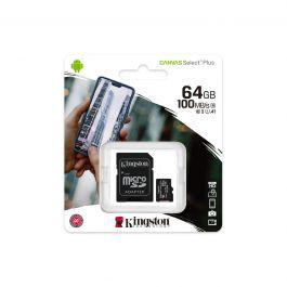 Kingston 64Gb Micsdxc Canvas Select Plus 100R A1 C10 Card SDCS2/64GB