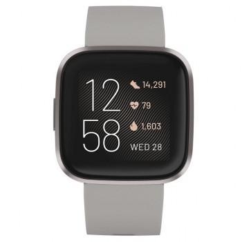 Fitbit Versa 2   Mist Gray Smartwatch Silicona Piedra FB507GYSR